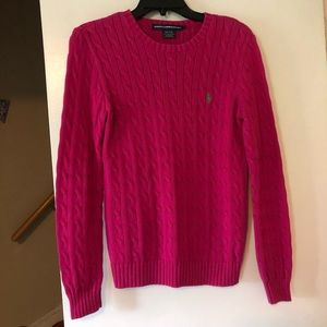 Pink Ralph Lauren Cable-knit Sweater